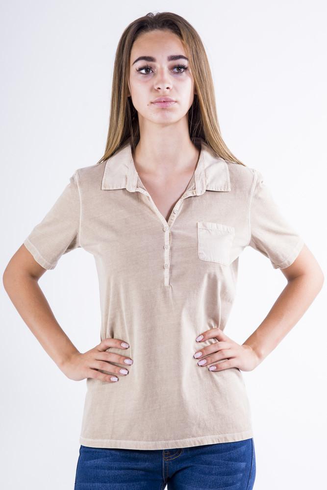 Поло женское 516F439-2 цвет Бежевый варенка