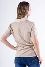 Поло женское 516F439-2 цвет Бежевый варенка, фото 2