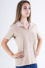 Поло женское 516F439-2 цвет Бежевый варенка, фото 3