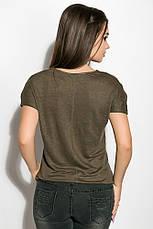 Блуза женская 516F480-1 цвет Хаки, фото 3