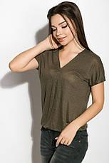 Блуза женская 516F480-1 цвет Хаки, фото 2
