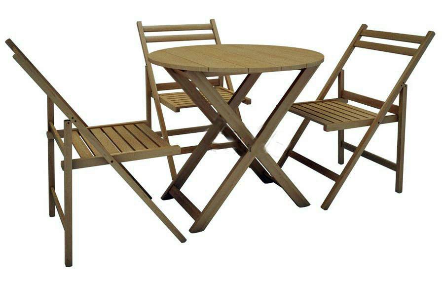 Стол круглый + 4 стула