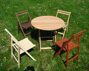 Стол круглый + 4 стула, фото 2