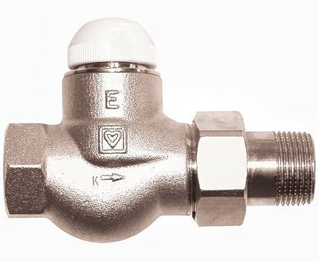 """Термоклапан повнопрохідний прямий 1/2"""" ГЕРЦ-TS-E"""