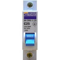 Автоматический выключатель ВА-2001; 1Р; 6 кА; 25 А