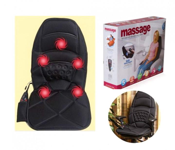 Массажная накидка с подогревом и вибрацией  для дома авто офиса Massage robot CUSHION 228