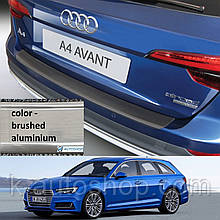 Пластикова захисна накладка на задній бампер для Audi A4 Avant 2016+