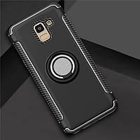 Чехол для Samsung J600 2018, бампер с подставкой и магнитной пластиной, цвет черный