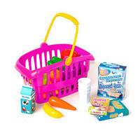 """Корзина """"Супермаркет"""", 33 предмета (розовая)  sco"""