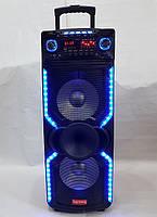 Колонка аккумуляторная с микрофоном Rainberg RB-1010С 200W X-BASS (Bluetooth/USB/FM)