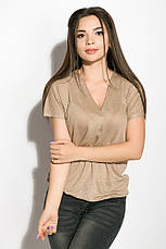 Блуза женская 516F480-1 цвет Бежевый, фото 3