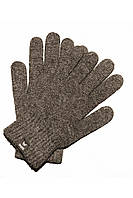 Вязаные шерстяные перчатки бежевого цвета
