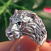 Чоловіче срібне кільце Лев - Кільце з левом срібло, фото 5