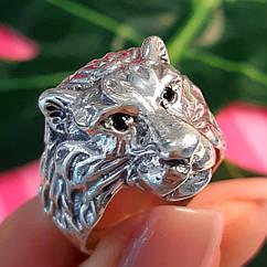 Мужское серебряное кольцо Лев - Кольцо со львом серебро