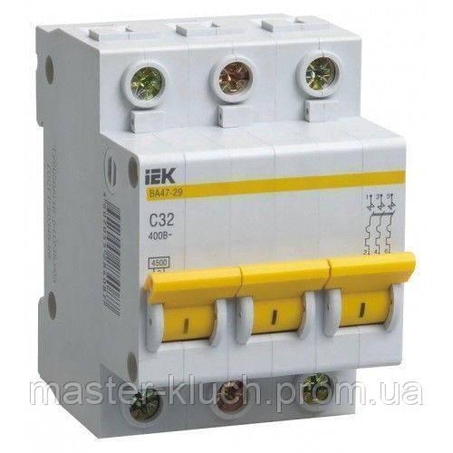 Автоматический выключатель IEK ВА 47-29 3Р  С10А