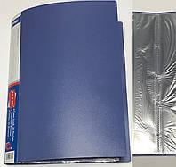 Папка пластиковая А4 +30 файлов А-303 (цвет-синий,черный,бордовый,зеленый), фото 1