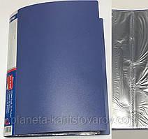 Папка пластиковая А4 + 80 файлов А-306 (цвет-синий,черный,бордовый,зеленый)