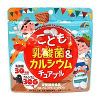 Молочно-кислі бактерії і кальцій для дітей зі смаком йогурту. 100 шт. Японія, фото 1