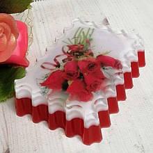 """Глицериновое мыло ручной работы """"Букет красных роз"""""""