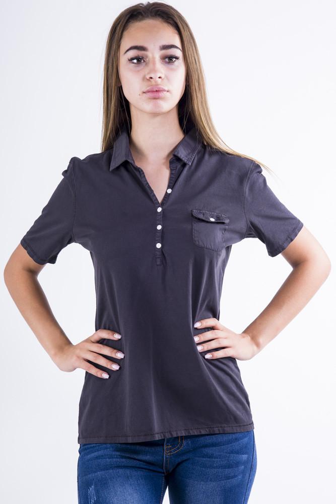 Поло женское 516F439-1 цвет Черный