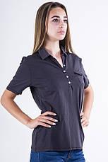 Поло женское 516F439-1 цвет Черный, фото 3