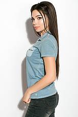 Поло женское 516F439-1 цвет Сизый варенка, фото 2