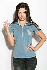 Поло женское 516F439-1 цвет Сизый варенка, фото 3