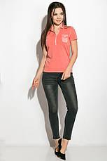 Поло женское 516F439-1 цвет Коралловый варенка, фото 3