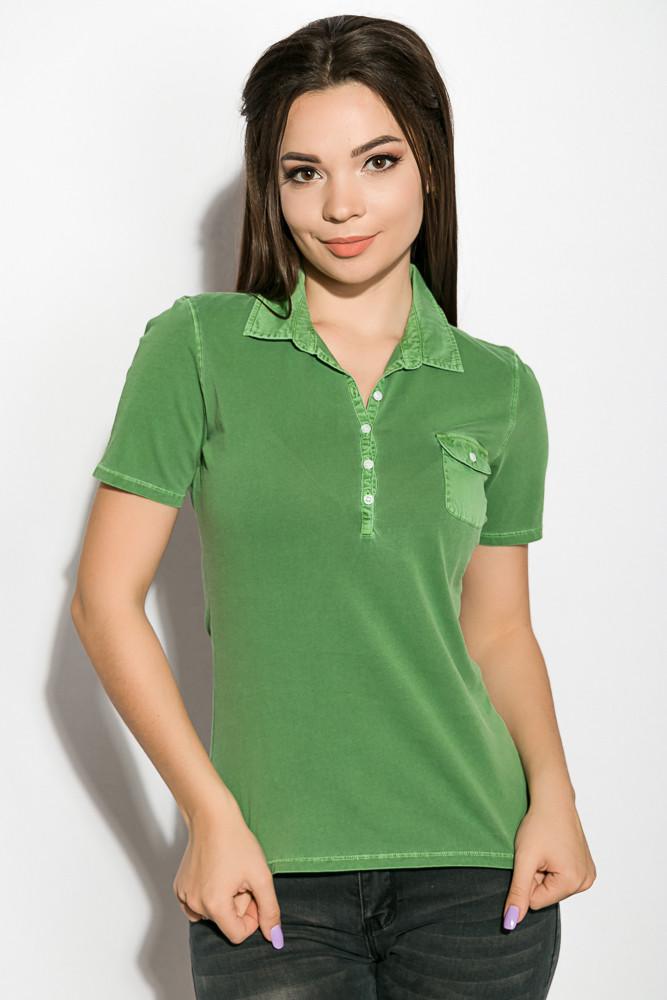 Поло женское 516F439-1 цвет Зеленая варенка