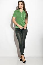 Поло женское 516F439-1 цвет Зеленая варенка, фото 3