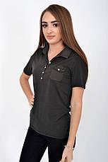 Поло женское 516F439-1 цвет Графит, фото 3
