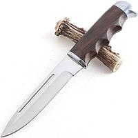 Нож охотничий нескладной Boda, рукоять дерево, чехол на пояс, ножи для охоты