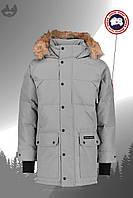 Парка мужская куртка зимняя теплая качественная серая Canada Goose Emory Parka