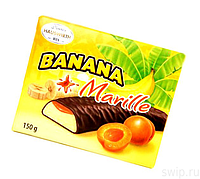 Конфеты шоколадные  Banana Marille (Банановое суфле с абрикосом) Hauswirth Австрия 150г
