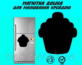 """Магнітна дошка на холодильник """"Пироженка"""" XL (32х32см)"""