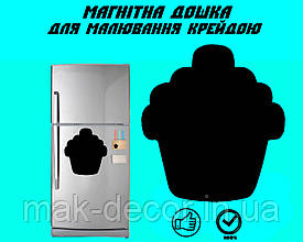 """Магнитная доска на холодильник """"Пироженка"""" XL (32х32см)"""