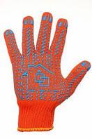 Перчатки рабочие с ПВХ точкой - усиленные, 10 класс, 10 размер (150)