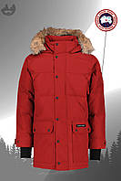 Парка мужская куртка зимняя теплая качественная красная Canada Goose Emory Parka