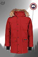 Парку чоловіча куртка зимова тепла якісна червона Canada Goose Emory Parka, фото 1