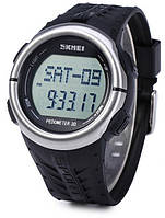 Часы Skmei 1058 Пульсометр Шагомер черные