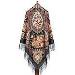 Сибирская красавица 1873-10, павлопосадский платок шерстяной  с шелковой бахромой, фото 9