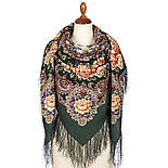 Сибирская красавица 1873-10, павлопосадский платок шерстяной  с шелковой бахромой, фото 3