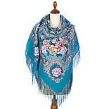 Сибирская красавица 1873-11, павлопосадский платок шерстяной  с шелковой бахромой, фото 3