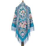 Сибирская красавица 1873-11, павлопосадский платок шерстяной  с шелковой бахромой, фото 8