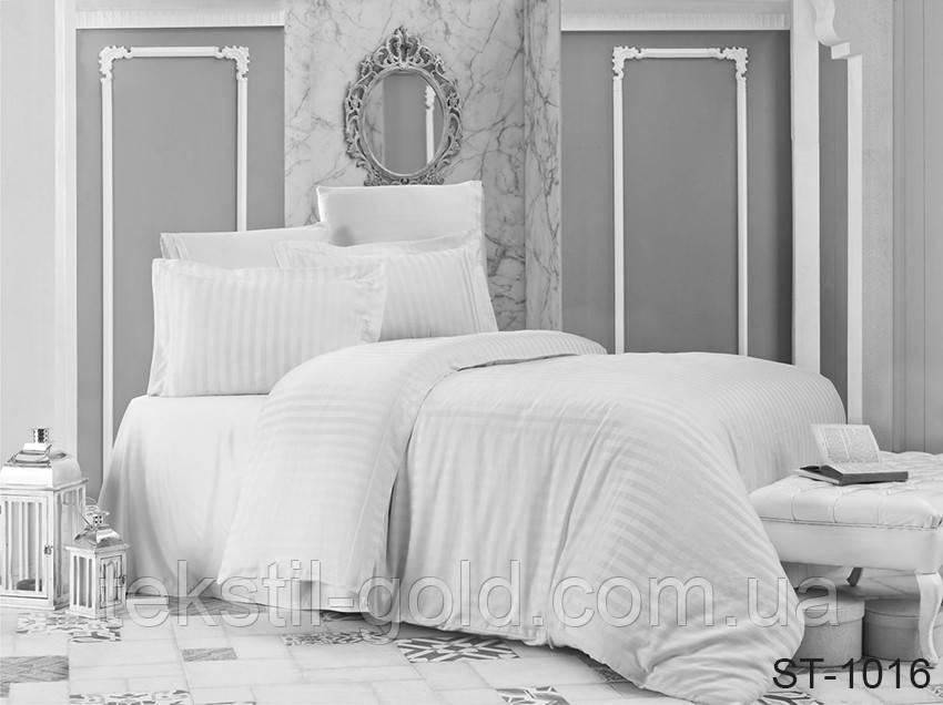 1,5-спальный комплект постельного белья ТМ TAG (Украина) страйп-сатин ST-1016