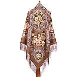 Сибирская красавица 1873-16, павлопосадский платок шерстяной  с шелковой бахромой, фото 5