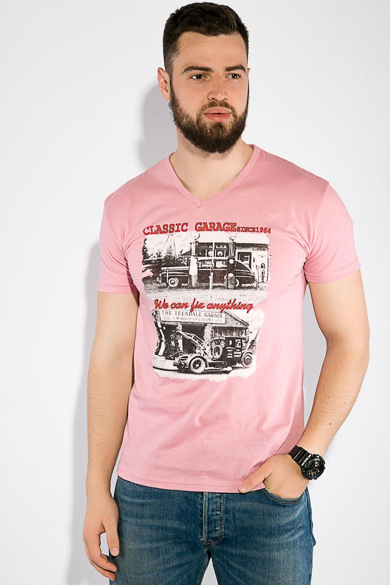 Футболка 168F102 цвет Розово-сиреневый