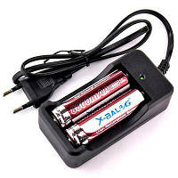 Комплект зарядное устройство + 2шт Аккумулятор X-BALOG 18650 8800 mAh