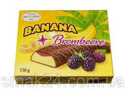 Конфеты шоколадные  Banana Brombeere (Банановое суфле с ежевикой) Hauswirth Австрия 150г