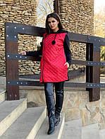 Демисезонная куртка женская Стеганная плащевка на синтепоне и трехнитка Размер 42 44 46 48 50 52 54 56, фото 1